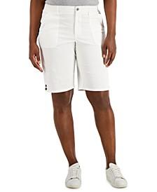 Button Hem Bermuda Shorts, Created for Macy's