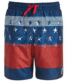 Big Boys Stripes & Stars Board Shorts