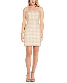 Faux-Pearl Sheath Dress
