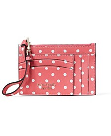 Spencer Dots Card Case Wristlet