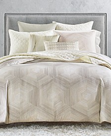 Luster Geo King Duvet, Created for Macy's