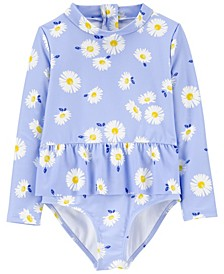 Toddler Girls Daisy Rashguard, 1 Piece