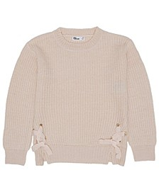 Big Girls Lace Up Side Sweater Top