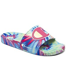 Women's IPO Tie-Dye Slide Sandals from Finish Line