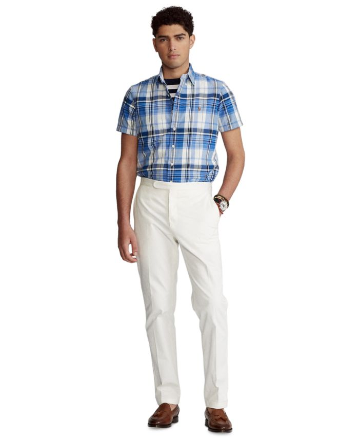 Polo Ralph Lauren Men's Classic-Fit Plaid Oxford Shirt & Reviews - Casual Button-Down Shirts - Men - Macy's