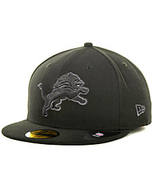 New Era Detroit Lions Black Gray 59FIFTY Hat