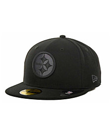 New Era Pittsburgh Steelers Black Gray 59FIFTY Hat