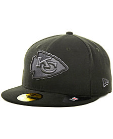 New Era Kansas City Chiefs Black Gray 59FIFTY Cap