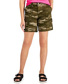 Camo Topstitched Cargo Shorts, Created for Macy's