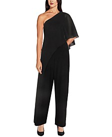 One-Shoulder Overlay Jumpsuit