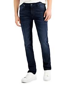 Men's Very Dark Slim-Fit Straight-Legged Jeans, Created for Macy's