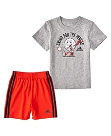 Toddler Boys Graphic T-shirt and Shorts Set, 2 Piece