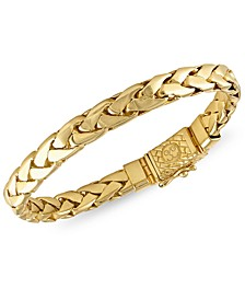 Woven Link Bracelet in 14k Gold-Plated Sterling Silver, Created for Macy's