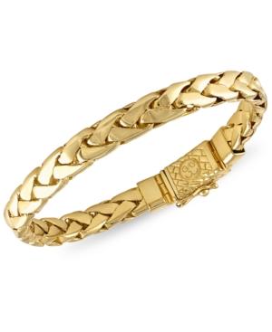 Woven Link Bracelet in 14k Gold-Plated Sterling Silver