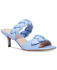 Women's Mollie Braided-Strap Kitten-Heel Sandals