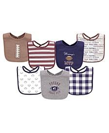 Baby Boys Cotton Bibs, 7 Pack