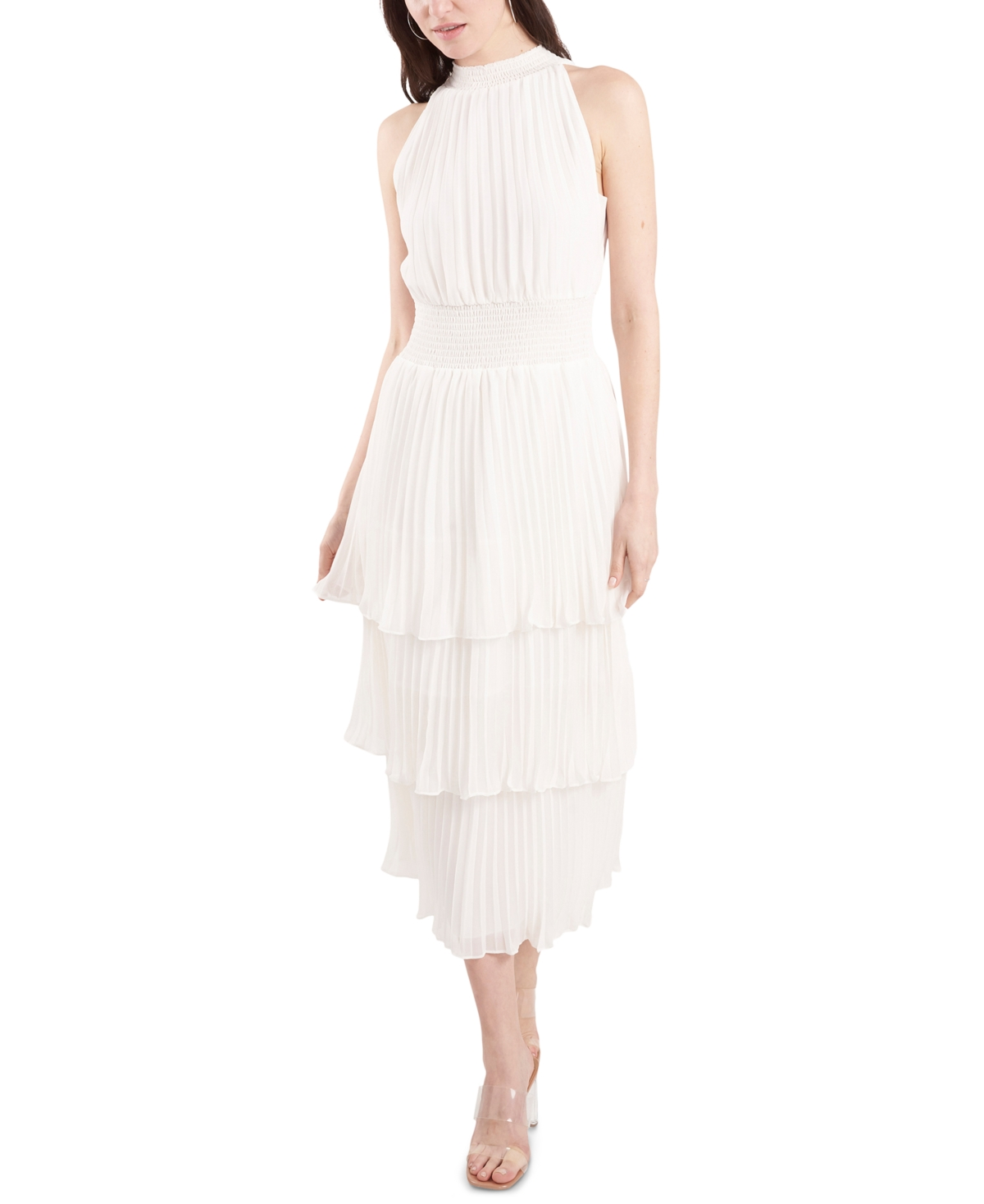1.state Pleated Smocked Dress