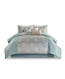 Mariella King Jacquard Comforter, Set of 7