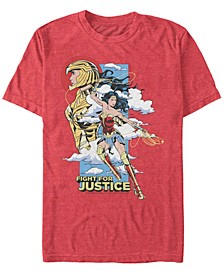 Men's Wonder Woman Fight For Justice Short Sleeve T-shirt