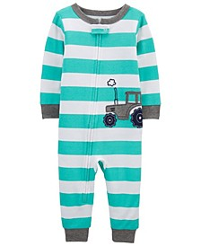 Baby Boys Tractor Footless Pajamas