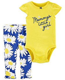 Baby Girls Mommy's Little Girl Bodysuit and Pant Set, 2 Pieces