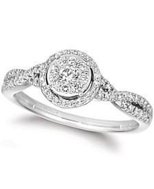 Vanilla Diamond® Twist Halo Ring (3/8 ct. t.w.) in Platinum