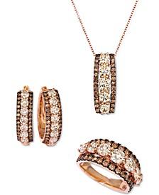Chocolate Diamond® & Nude Diamond™ Triple Row Jewelry Collection