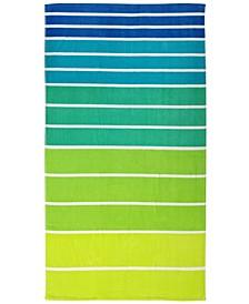 Ombré Stripe Velour Beach Towel, Created for Macy's