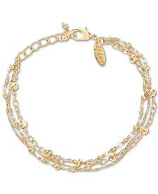 Beaded Triple-Row Ankle Bracelet, Created for Macy's