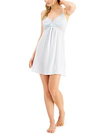 Lace-Bodice Chiffon Chemise Nightgown , Created for Macy's