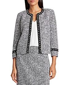 Pearl-Trim Tweed Jacket