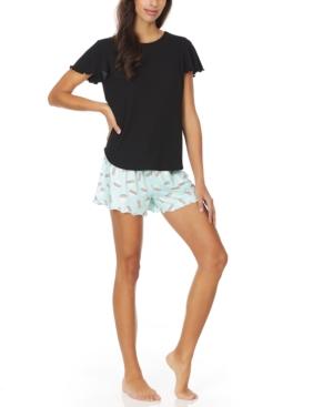 Lagoon Ruffled Shorts Pajama Set