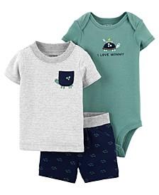 Baby Boys Turtle Little Short Set, 3 Pieces