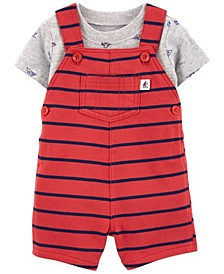 Baby Boys Boat Tee and Shortall Set, 2 Pieces