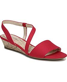 Yasmine Strappy Wedge Sandals