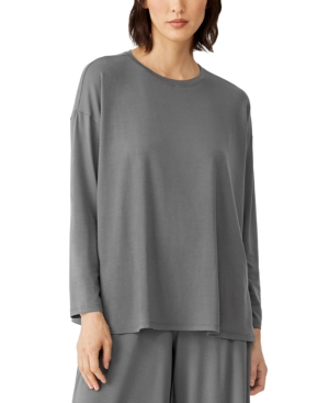 Eileen Fisher Tops CREWNECK RELAXED TOP