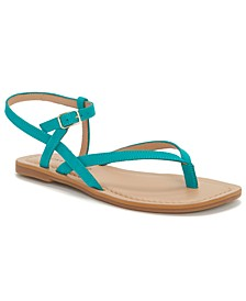 Women's Bylee Square-Toe Thong Flat Sandals
