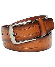 Men's Brown Double-Stitch Belt
