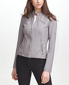 Women's Faux Leather Moto Jacket