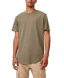 Men's Essential Long Line Scoop T-Shirt
