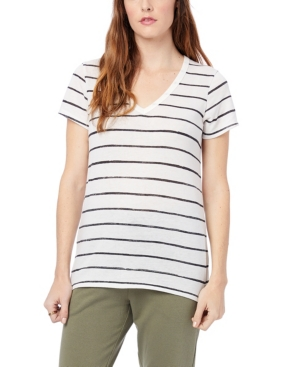 Women's Ideal Printed Eco-Jersey V-Neck T-shirt