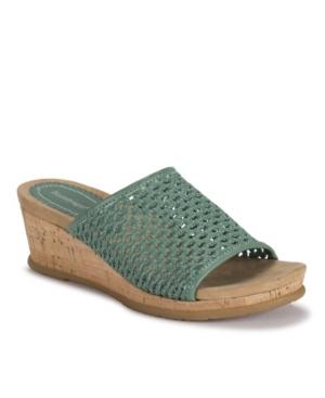 Baretraps Mid heels FLOSSEY SLIP-ON WEDGE SANDALS WOMEN'S SHOES