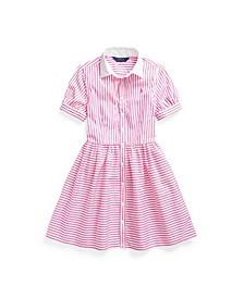 Big Girls Striped Shirtdress
