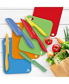 Splash 14-Pc. Color-Coded Knife & Cutting Board Set