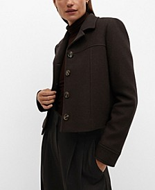 Women's Structured Wool-Blend Jacket