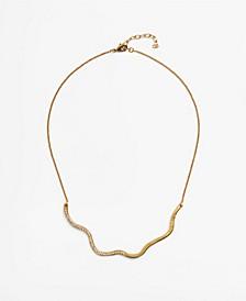 Women's Embossed Asymmetric Necklace