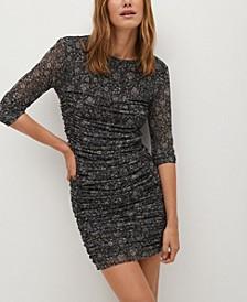 Women's Print Draped Dress