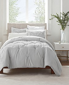 Simply Clean Pleated 3-Pc. Comforter Collection