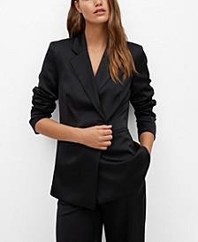Women's Satin Suit Blazer