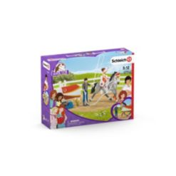 Schleich Horse Club Mia's 14-piece Vaulting Set with Horse Toy
